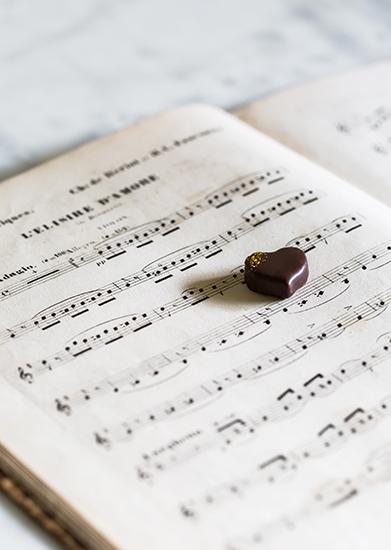 """Intuition musicale - Collection """"Au coeur des jardins de Paris"""" (Saint Valentin 2018) par La Maison du Chocolat (Nicolas Cloiseau)"""