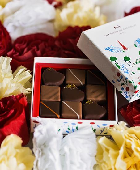 """Collection """"Au coeur des jardins de Paris"""" (Saint Valentin 2018) par La Maison du Chocolat (Nicolas Cloiseau)"""