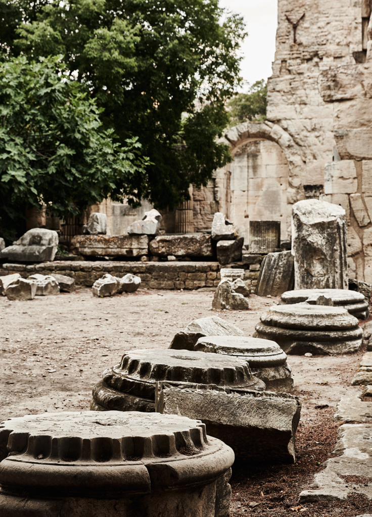 Arles, ruine, vestiges, forum