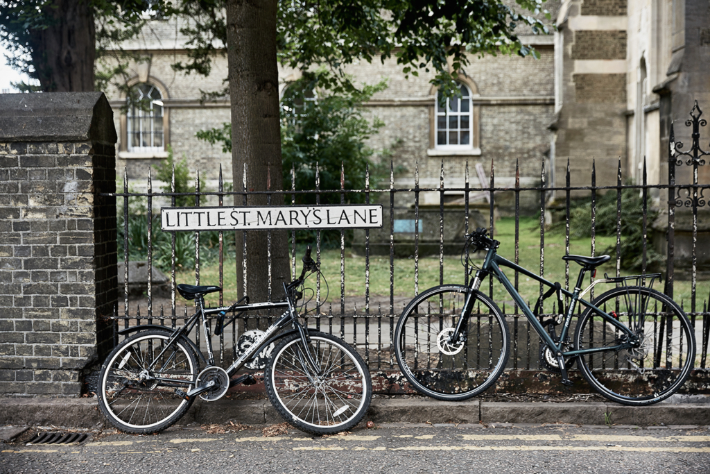 Bicycles Little St Mary's Lane Church Cambridge England